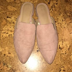 Pink mules!